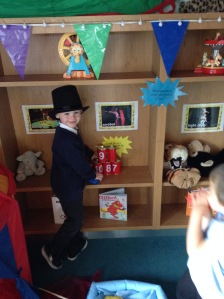 Isaac taking on the role of ring master just like Peppa