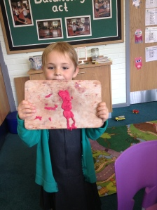 Charlie made Peppa pig out of play dough