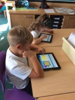 Using Espresso on the iPads to help us learn to tell the time